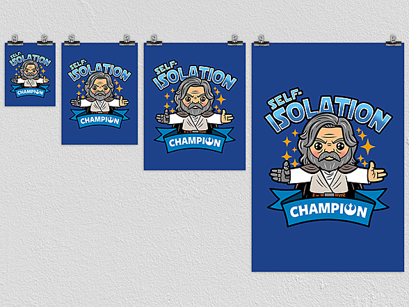Woot!: Self-Isolation Champion Poster