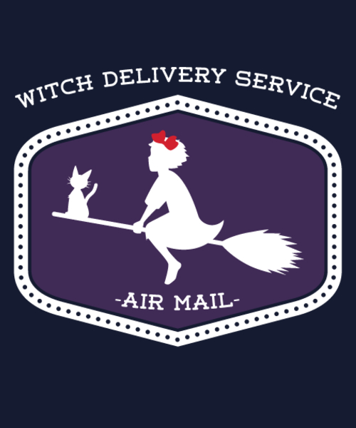 Qwertee: Witch Delivery Service