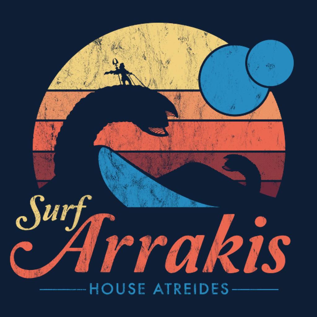 NeatoShop: Visit Arrakis - Vintage Distressed Surf - Dune - Sci Fi