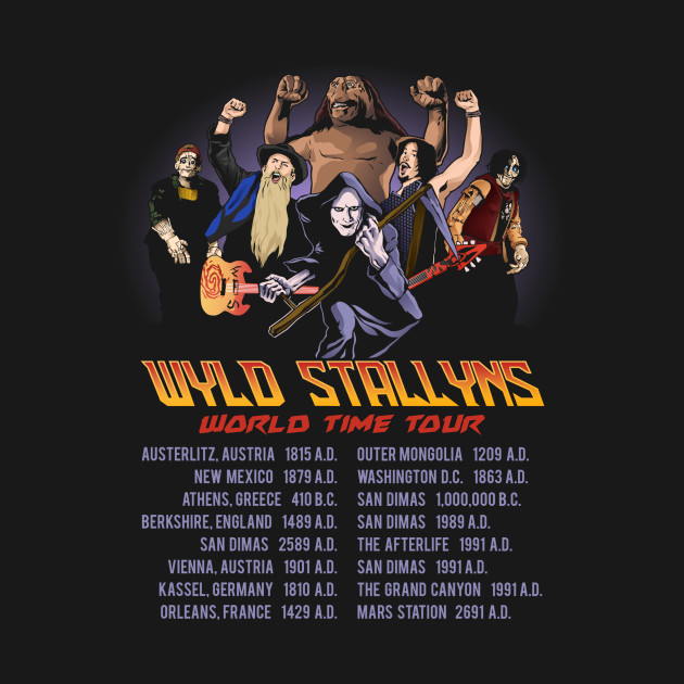TeePublic: Wyld Stallyns World Time Tour