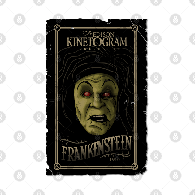 TeePublic: The Edison Kinetogram  Frankenstein 1910 Silent Movie