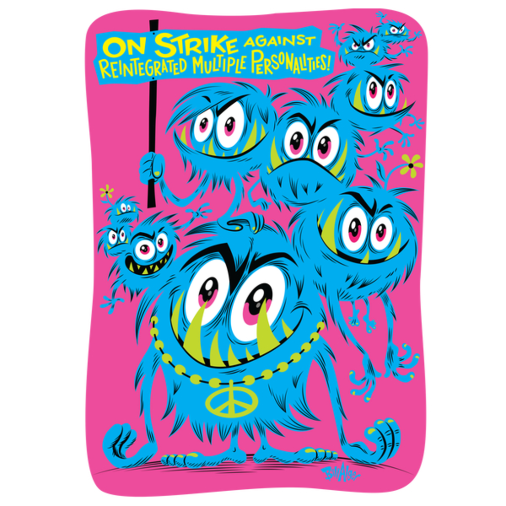 NeatoShop: Hippie Protest Monsters: On Strike Against Reintegrated Multiple Personalities!