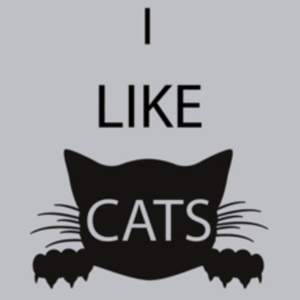 Textual Tees: I Like Cats