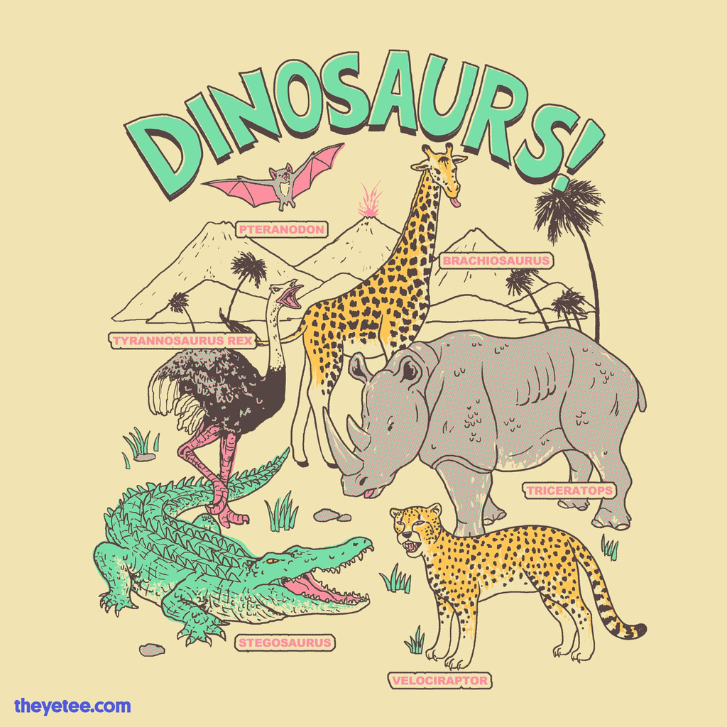 The Yetee: Dinosaurs!