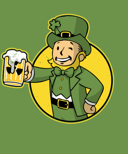 Qwertee: Irish Vault Boy