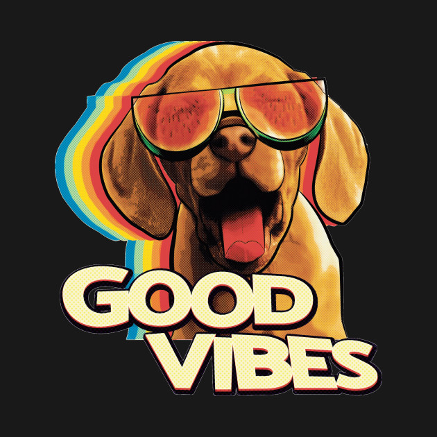 TeePublic: Watermelon Sunglasses Happy Dog Vibes