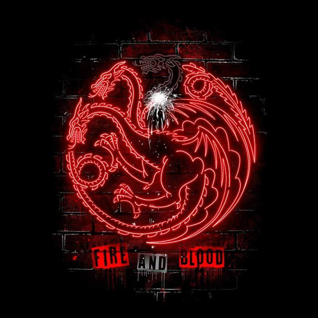 Once Upon a Tee: Neon Dragons