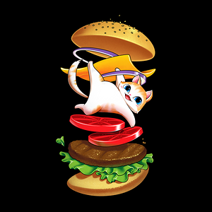 NeatoShop: Hamburger Cat