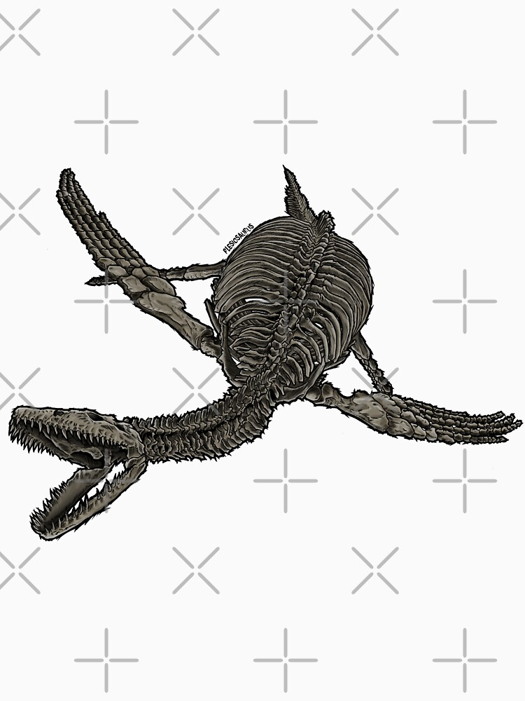 RedBubble: PlesiosaurusSkeletonColor
