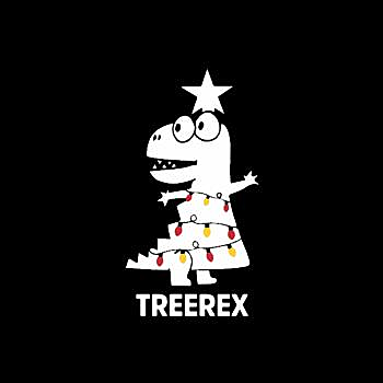BustedTees: Tree Rex christmas
