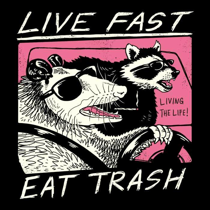 Once Upon a Tee: Live Fast, Eat Trash