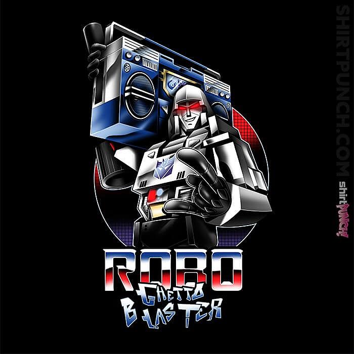 ShirtPunch: Robo Ghetto Blaster