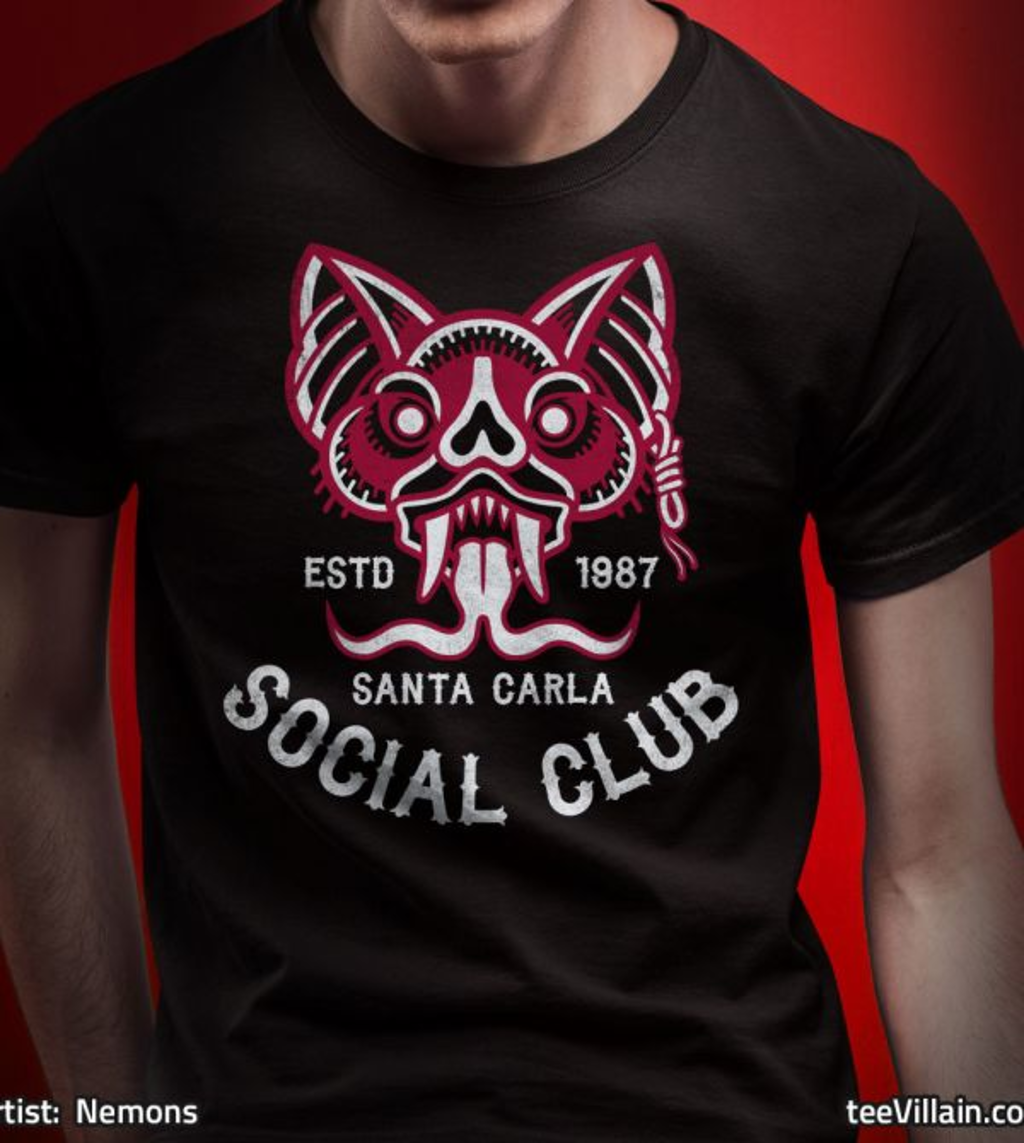 teeVillain: Santa Carla Social Club