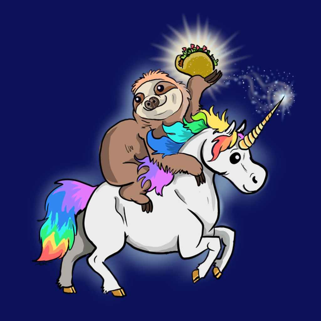 NeatoShop: Taco Bout Majestic Sloth Riding a Unicorn