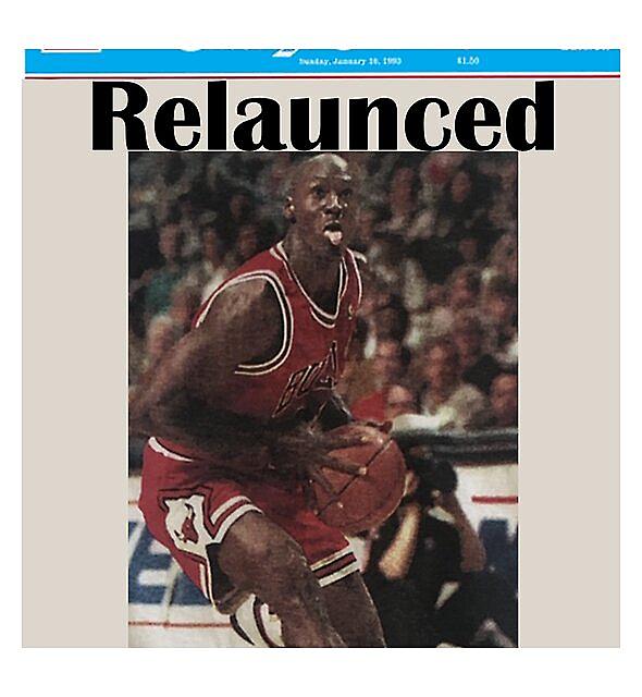 RedBubble: Michael Jordan Chicago Tribune Relaunch News paper T Shirt
