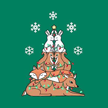 BustedTees: Christmas tree