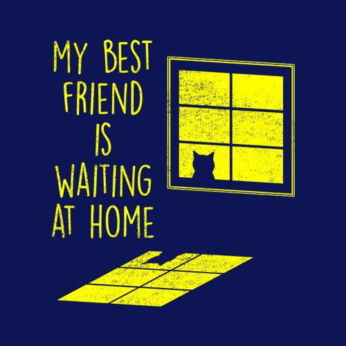Five Finger Tees: My Best Friend Is Waiting At Home T-Shirt