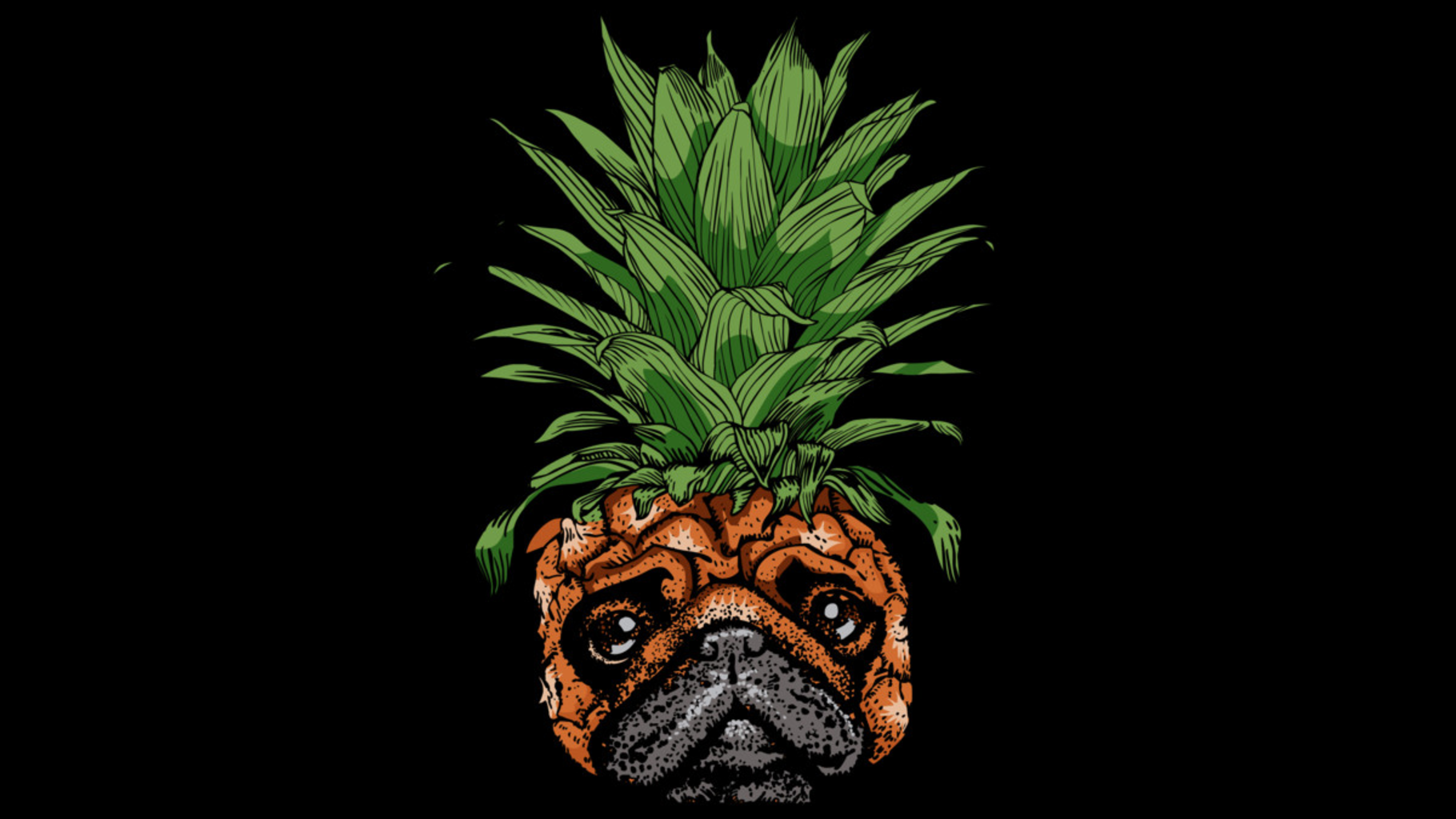 Design by Humans: Pineapple Pug