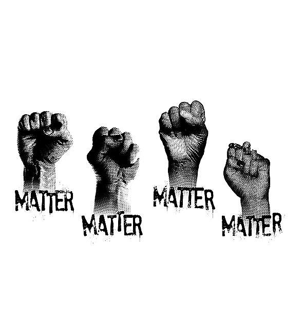 RedBubble: Black Lives Matter - Black Flag logo (white ink)