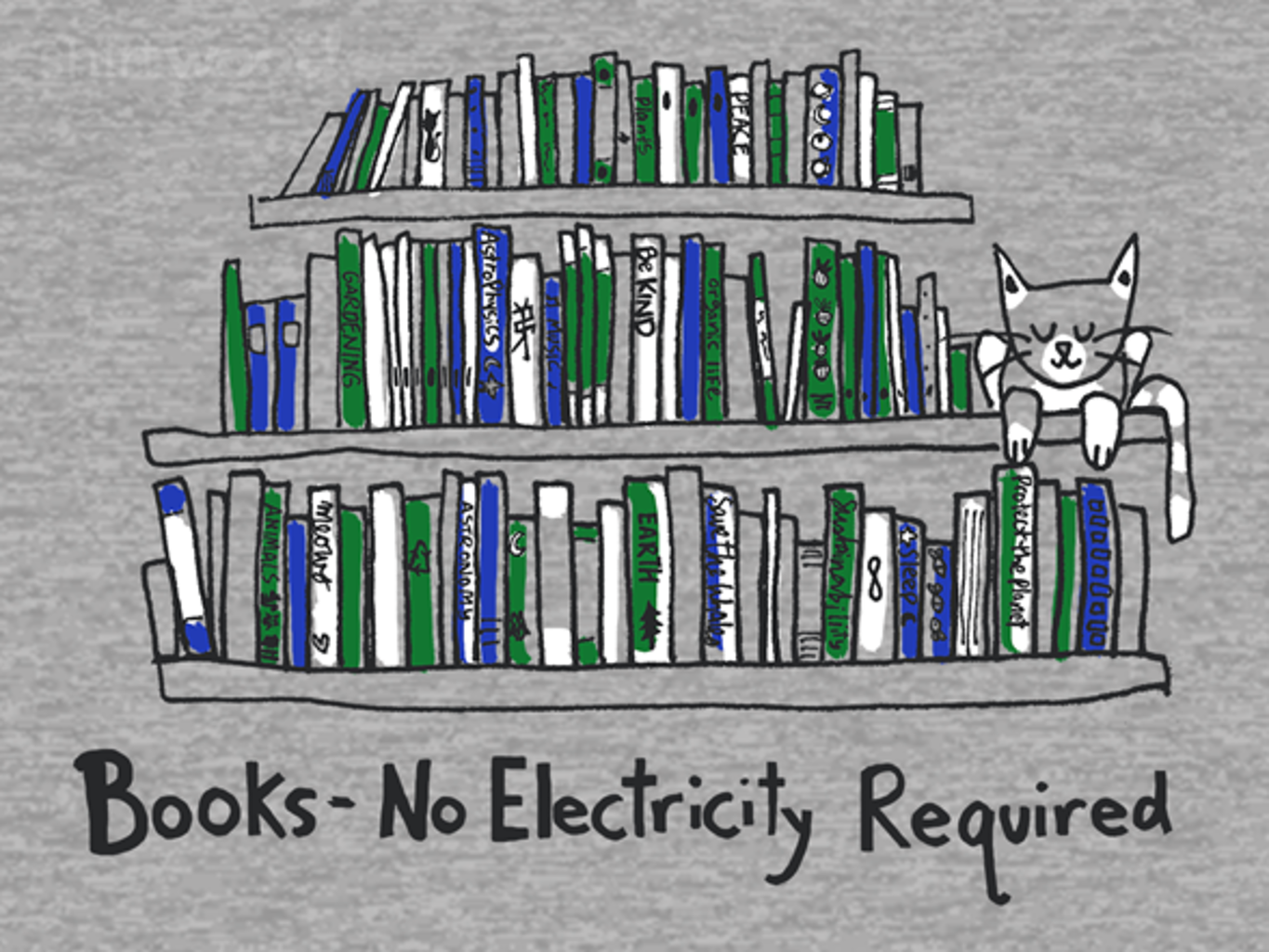 Woot!: Books and Cats - No Electricity Required