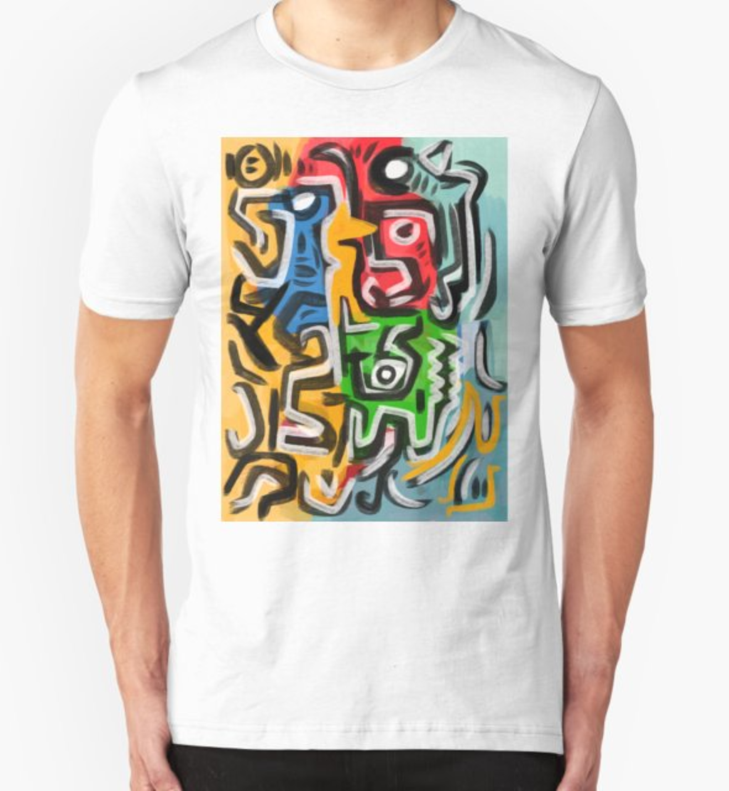 RedBubble: Primitive street art abstract