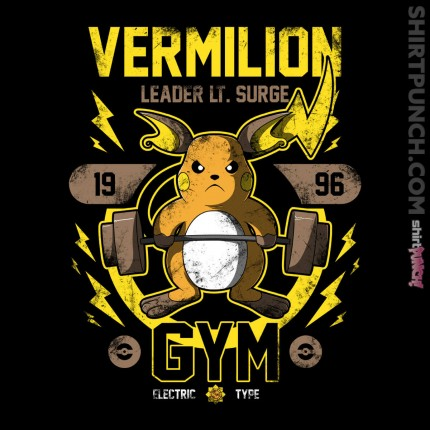 ShirtPunch: Vermilion Gym
