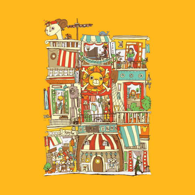 TeePublic: Mugiwara House T-Shirt