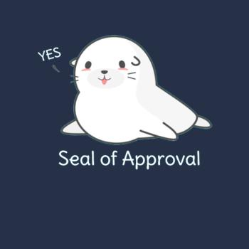 BustedTees: Seal Of Approval Funny