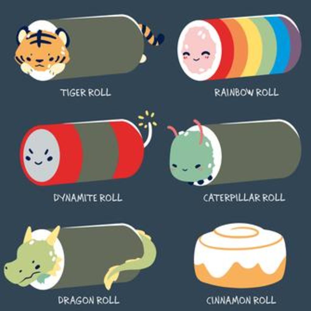 TeeTurtle: Sushi Rolls
