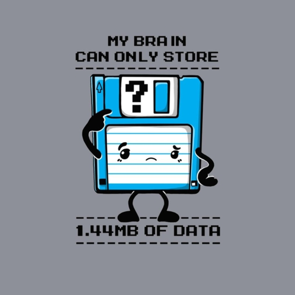 BustedTees: My Brain Can Only Store
