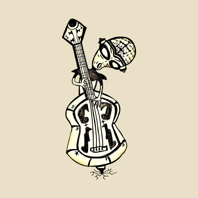TeePublic: Alien Bass Guitar T-Shirt