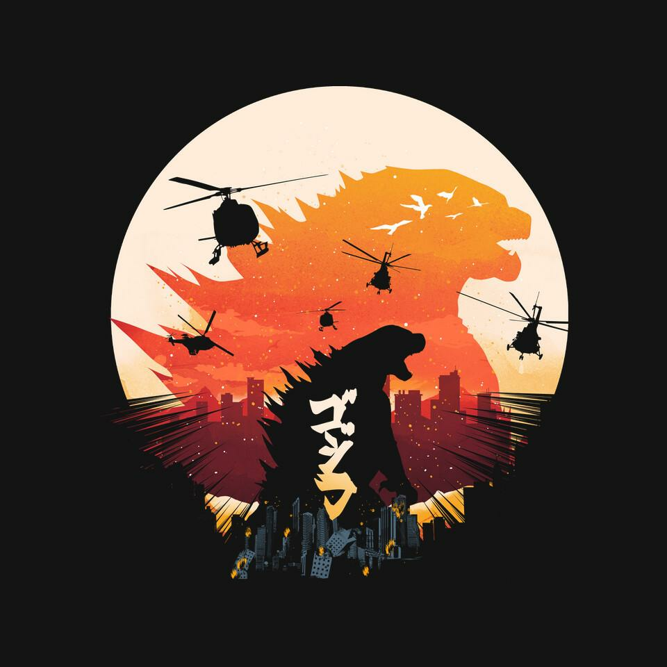 TeeFury: King Kaiju Sunset