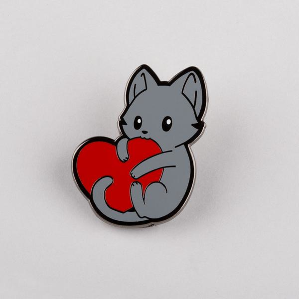 TeeTurtle: I Love Mew Pin