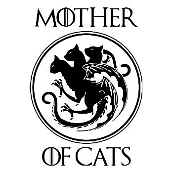 BustedTees: Mother of cat t shirt - Hoodie