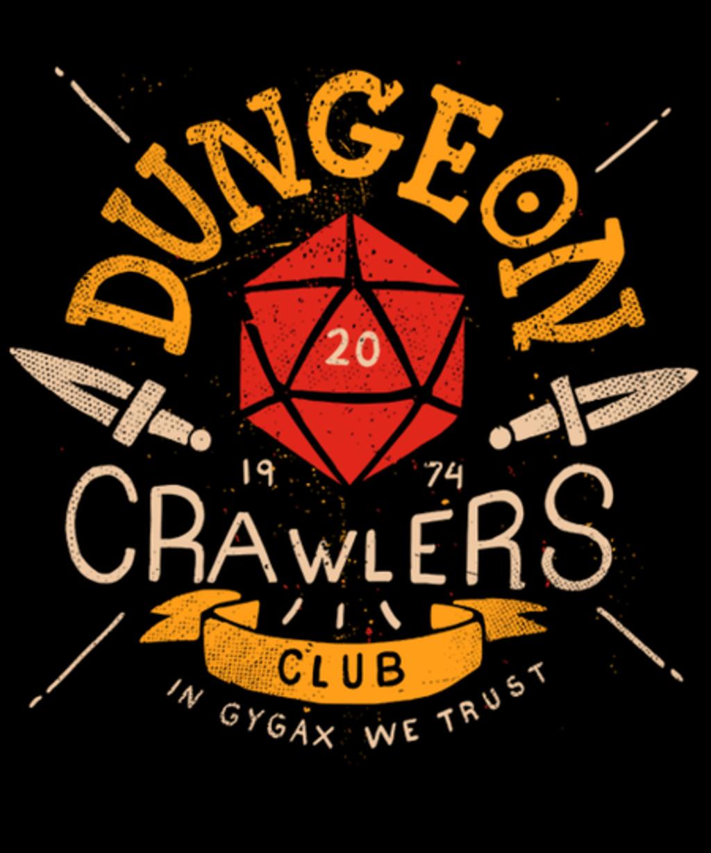 Qwertee: Dungeon Crawlers Club