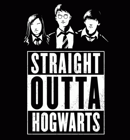 BustedTees: Straight Outta Hogwarts