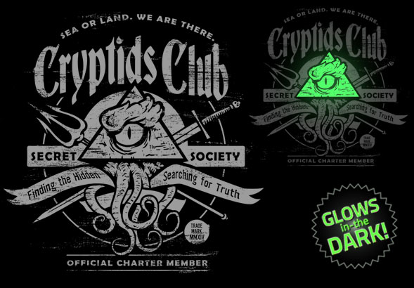 teeVillain: CRYPTIDS CLUB