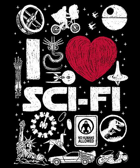 Qwertee: I Love SciFi