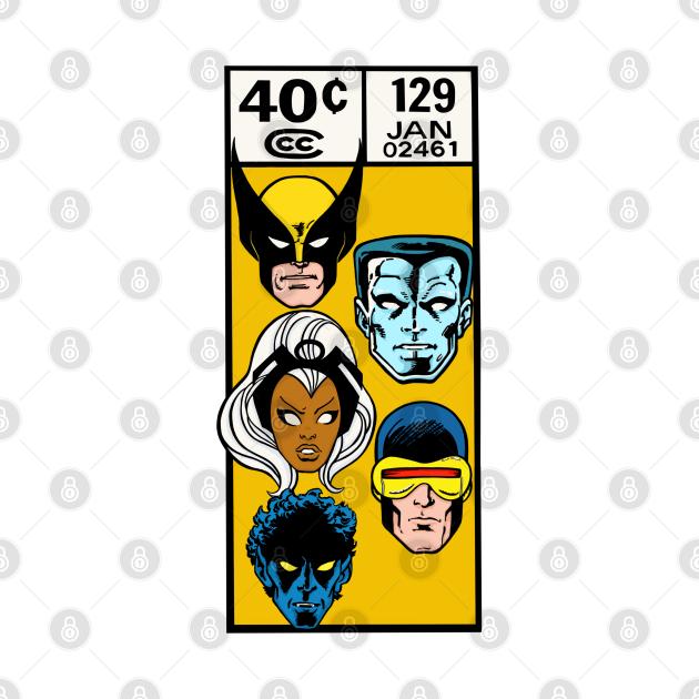 TeePublic: X-men vintage corner art box