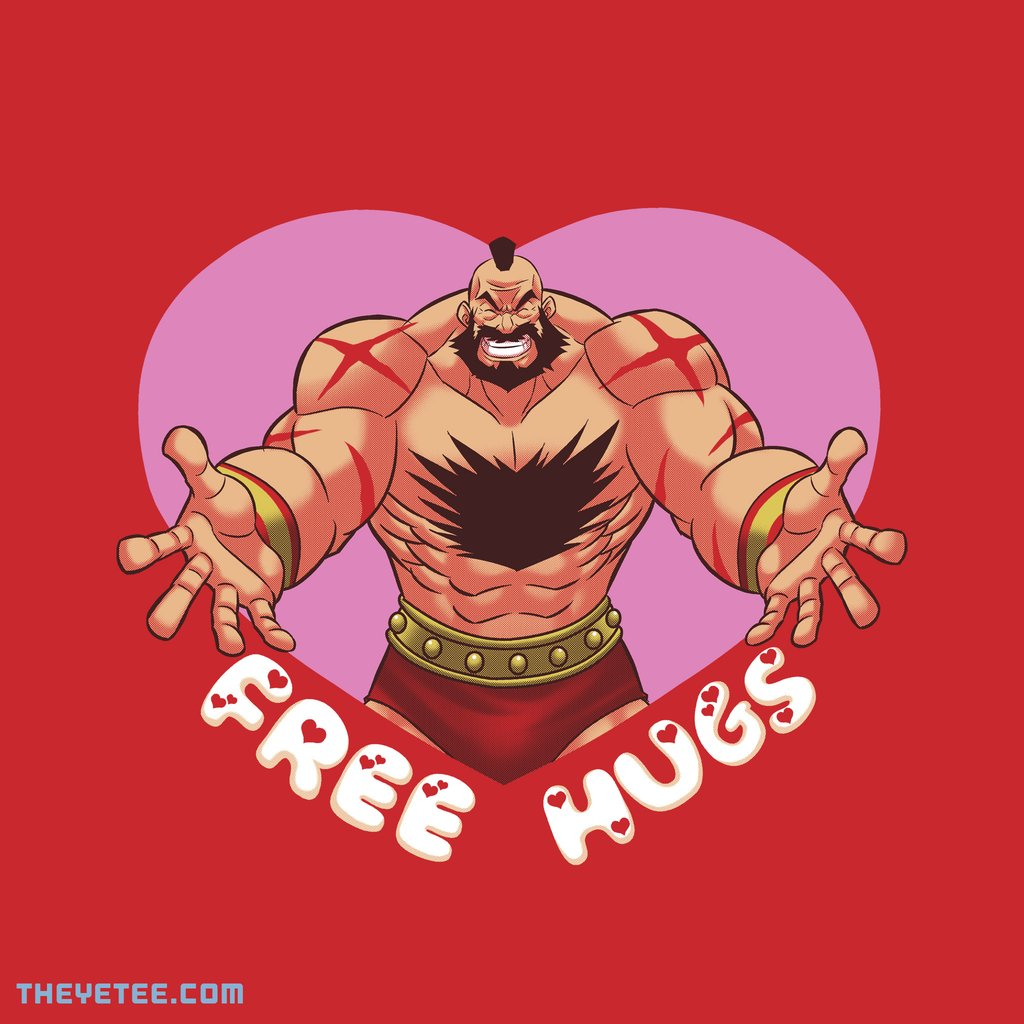 The Yetee: Free Hugs by Coinbox Tees