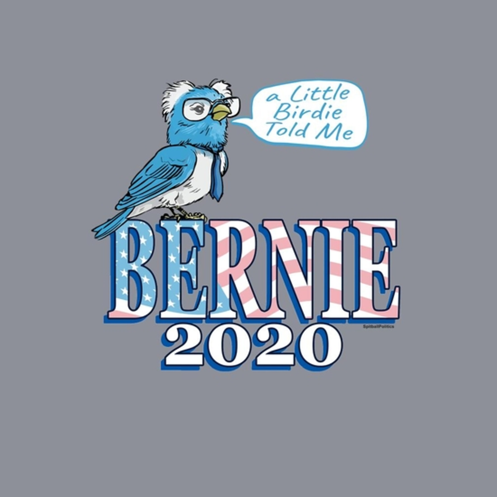 BustedTees: Bernie Blue Bird 2020