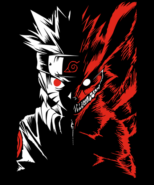Qwertee: Naruto Two Face