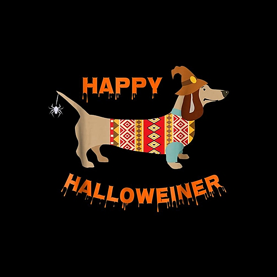 BustedTees: Funny Halloween Weiner in Ugly Sweater