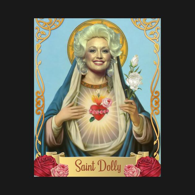 TeePublic: Saint Dolly Parton Design