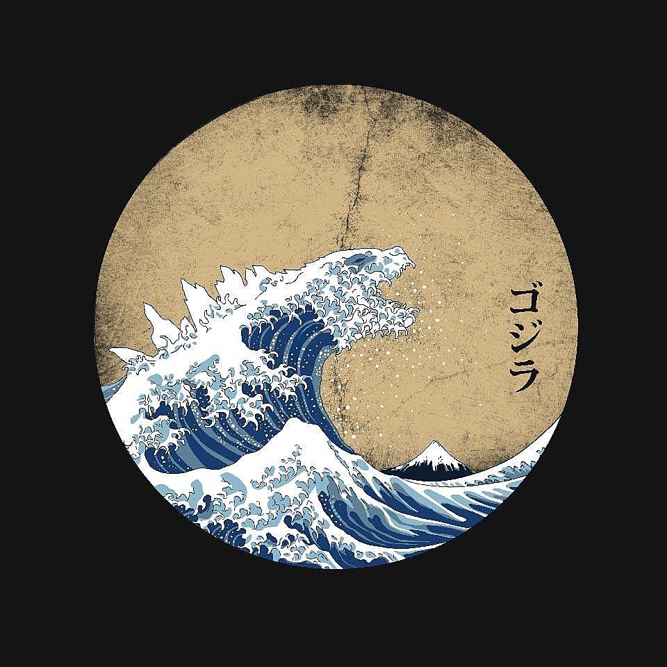 TeeFury: Hokusai Gojira