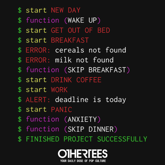 OtherTees: Monday Programmer