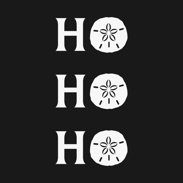 TeePublic: Ho Ho Ho Sand Dollar Beach Christmas Gift