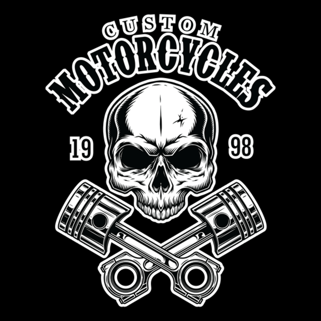 NeatoShop: Custom Motorcycles - Skull with Engine Parts