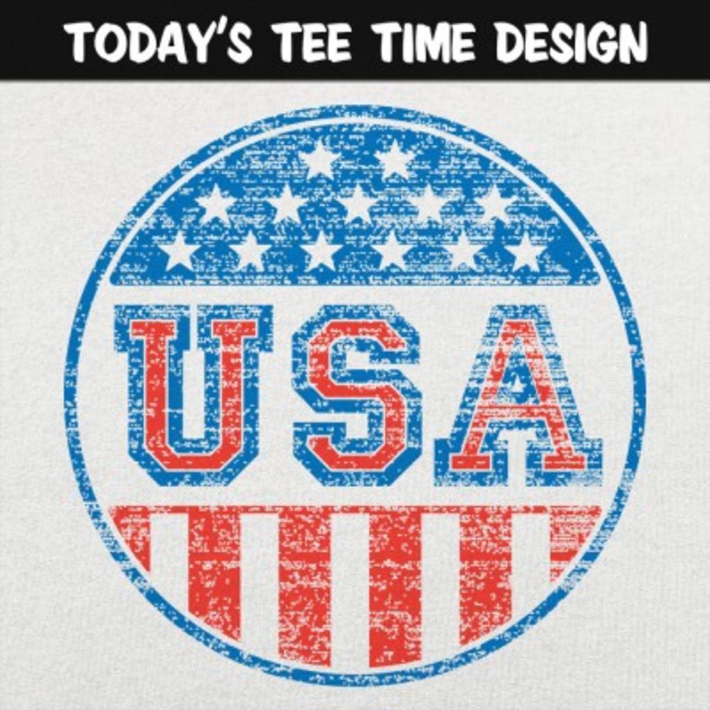 6 Dollar Shirts: USA Button