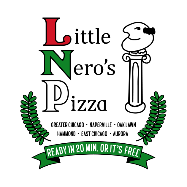 TeePublic: Little Nero's Pizza (White tee)